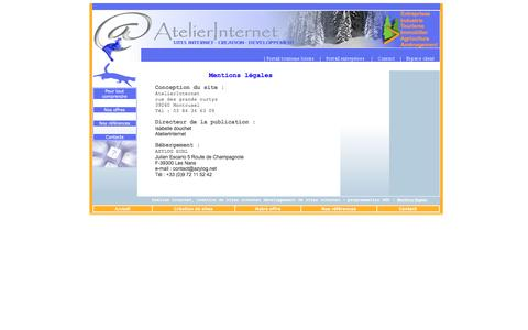 Screenshot of Terms Page atelierinternet.com - Creation sites internet, Jura Ain, AtelierInternet agence web - captured July 26, 2016