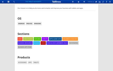 Screenshot of Menu Page tabtimes.com - Menu   TabTimes - captured Sept. 22, 2014