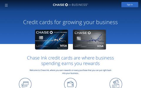 Businesss Credit Cards | Chase.com