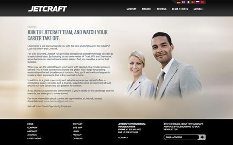 Screenshot of Jobs Page jetcraft.com - Careers | Jetcraft Corporation - captured Sept. 19, 2014