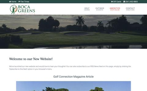 Screenshot of Press Page bocagreenscountryclub.com - Boca Greens Country Club | Public Championship Florida Golf Course - Boca News - captured Nov. 6, 2018