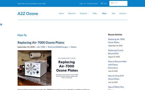 Screenshot of Blog a2zozone.com - How To Blog   A2Z Ozone - captured Oct. 2, 2018