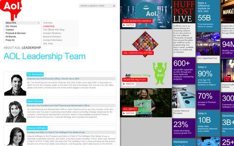 Screenshot of Team Page aol.com - Leadership - AOL Corp - captured Sept. 10, 2014