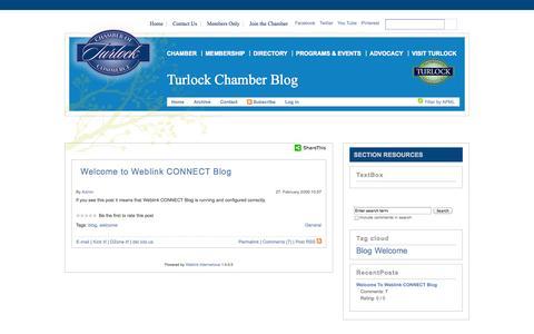 Screenshot of Blog turlockchamber.com - Turlock Chamber Blog   - captured Oct. 7, 2014