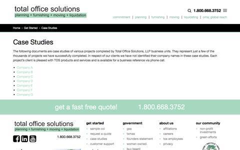 Screenshot of Case Studies Page tospartners.com - Case Studies - Total Office Solutions - captured Nov. 12, 2016