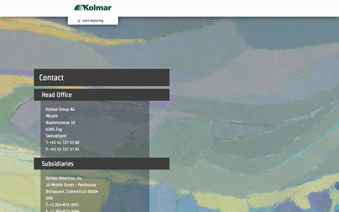 Screenshot of Contact Page kolmargroup.com - Contact | Kolmar Group AG - captured Oct. 6, 2014