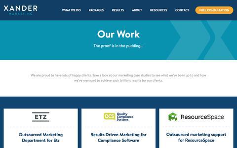 SaaS Marketing Case Studies | Xander Marketing