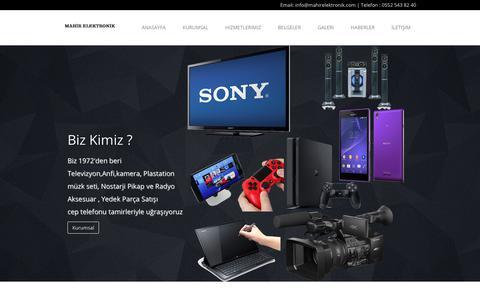 Screenshot of Home Page mahirelektronik.com - Mahir Elektronik - Teknik Servis Hizmetleri - captured Feb. 27, 2018