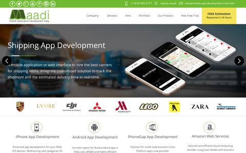 Screenshot of Home Page mobile-app-development-india.com - Mobile App Development India: Top App development Company in India, USA - captured July 8, 2018