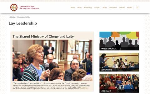 Screenshot of Team Page goarch.org - Lay Leadership - Greek Orthodox Archdiocese of America - captured April 25, 2017