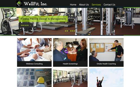 Screenshot of Services Page wellfitcorporate.com - wellfit | Services - captured Nov. 29, 2016