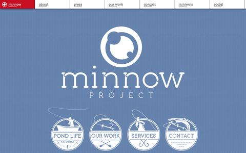 Screenshot of Home Page minnowproject.com - Minnow Project :: ad agency in Lincoln, Nebraska - captured Sept. 30, 2014