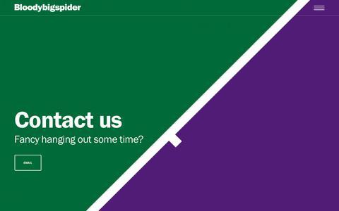 Screenshot of Contact Page bloodybigspider.com - Contact Us - Bloodybigspider - captured Nov. 6, 2018