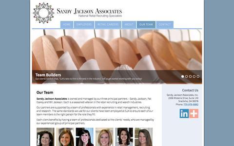 Screenshot of Team Page sandyjacksonassociates.com - Our Team | Sandy Jackson Associates - captured Nov. 18, 2016