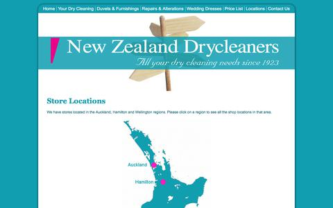 Screenshot of Locations Page nzdrycleaners.co.nz - NZ Drycleaners - Locate your NZ Dry Cleaner - captured Jan. 11, 2018