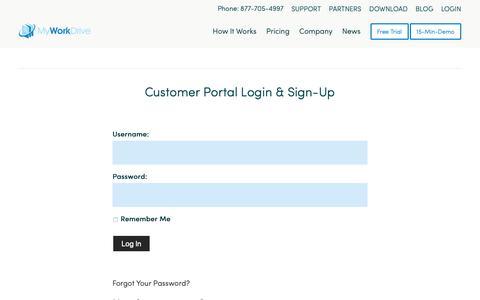 Screenshot of Login Page myworkdrive.com - Login - MyWorkDrive - captured Nov. 2, 2018