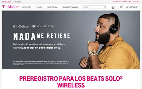 Screenshot of Landing Page t-mobile.com - Beats By Dre | Audífonos, bocinas y accesorios Beats | T-Mobile - captured Sept. 24, 2016