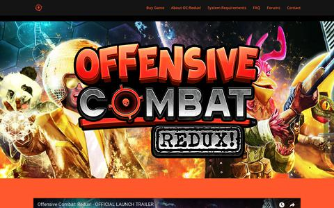 Screenshot of Home Page offensivecombat.com - Offensive Combat: Redux! | Offensive Combat: Redux! - captured Sept. 22, 2018