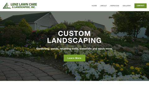 Screenshot of Home Page lenzlawncare.com - Lenz Lawn Care - captured Sept. 28, 2018