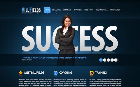 Screenshot of Home Page billfields.com - Bill Fields - Bill Fields - Home - captured Sept. 13, 2015