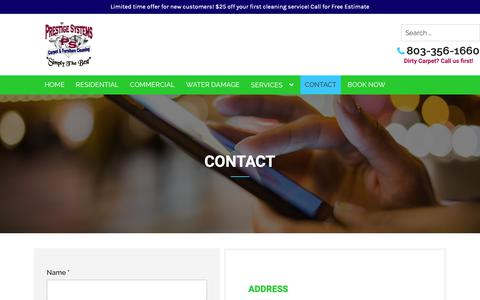 Screenshot of Contact Page prestigesystems.net - Contact - Prestige Systems, LLC - captured Dec. 15, 2018