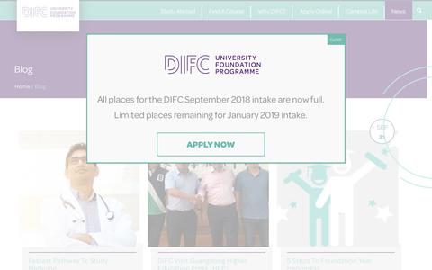 Screenshot of Blog Press Page difc.ie - DIFC Blog | DIFC - captured Oct. 9, 2018