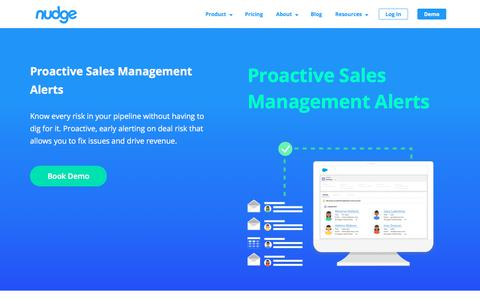 Screenshot of Team Page nudge.ai - Proactive Sales Management Alerts - Nudge.ai - Relationship Intelligence for Sales - captured Nov. 12, 2019