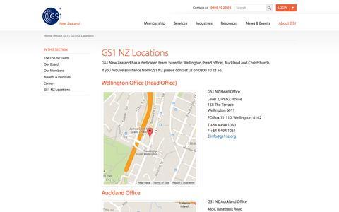 Screenshot of Locations Page gs1nz.org - GS1 NZ Locations | GS1NZ - captured Oct. 1, 2014