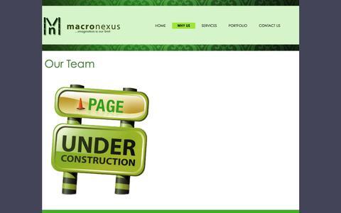 Screenshot of Team Page macronexus.com - Macronexus - captured Dec. 20, 2015