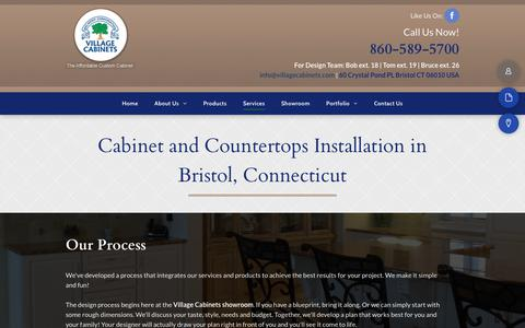 Screenshot of Services Page villagecabinets.com - Cabinet and Countertops Installation - Bristol, CT - Village Cabinets - captured Sept. 21, 2018