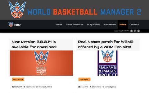 Screenshot of Press Page worldbasketballmanager2.com - News – WBM2 - captured Jan. 22, 2017