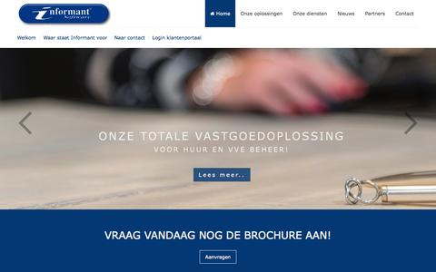 Screenshot of Home Page informant.nl - Home - captured Oct. 6, 2014