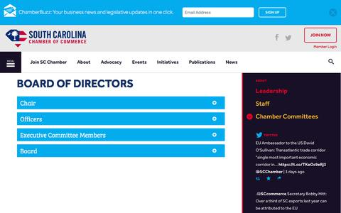 Screenshot of Team Page scchamber.net - Board of Directors | South Carolina Chamber of Commerce - captured Oct. 23, 2017