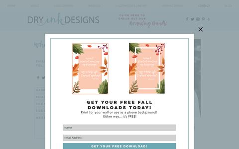 Screenshot of Contact Page dryinkdesigns.com - Contact | Dry Ink Designs - captured Nov. 6, 2018