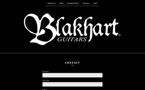 Screenshot of Contact Page bigcartel.com - Contact   blakhartguitars - captured Oct. 25, 2018