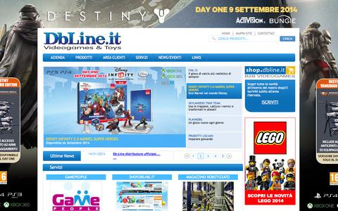 Screenshot of Home Page dbline.it - Db-Line.it - captured Sept. 24, 2014