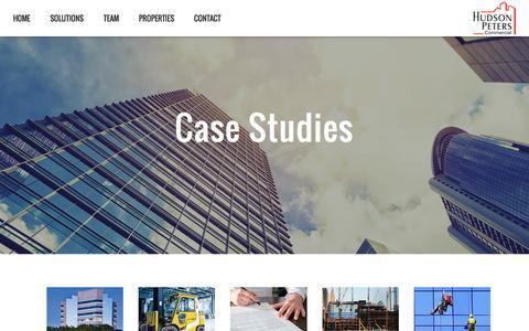 Screenshot of Case Studies Page hudsonpeters.com - Case Studies | Commercial Real Estate Services - captured Nov. 14, 2016