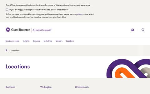 Screenshot of Locations Page grantthornton.co.nz - Locations | Grant Thornton New Zealand - captured April 29, 2017