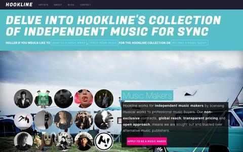Screenshot of Contact Page hookline.tv - About - Hookline - captured Nov. 2, 2014