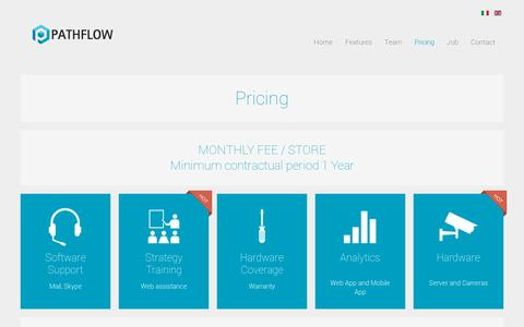 Screenshot of Pricing Page pathflow.co - Pricing | Pathflow Analytics, Human Behaviour Analytics - captured July 19, 2014