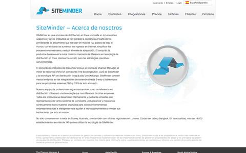 Screenshot of About Page siteminder.es - Número 1 en el mundo Channel Manager y Priveedor de Software de Hotel- SiteMinder - captured Nov. 4, 2014