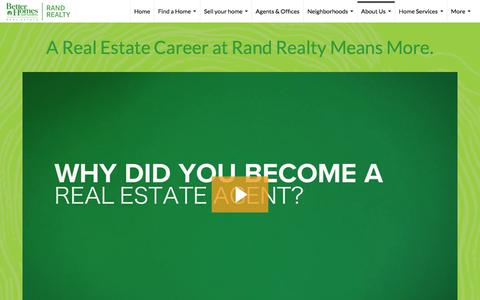 Screenshot of Jobs Page randrealty.com - Careers in Real Estate - Better Homes and Gardens Rand Realty - captured Sept. 22, 2018