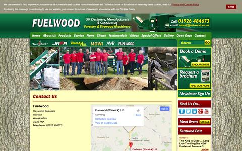 Screenshot of Contact Page fuelwood.co.uk - Contact Us - captured Oct. 6, 2014