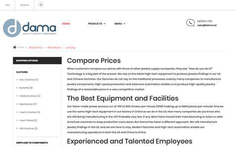 Screenshot of Pricing Page dama.net - Dama.net - captured Oct. 7, 2018