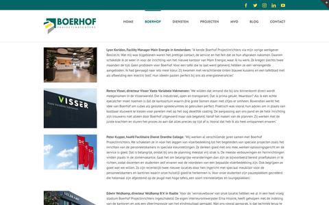 Screenshot of Testimonials Page boerhofprojectinrichters.nl - Testimonials - Boerhof Projectinrichters - captured Oct. 6, 2018