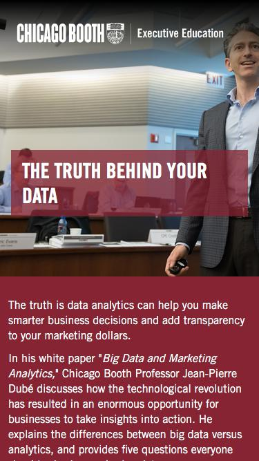 Executive Education at Chicago Booth | Big Data and Marketing Analtyics