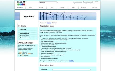 Screenshot of Signup Page inore.org - Inore  | Registration form - captured Oct. 4, 2014