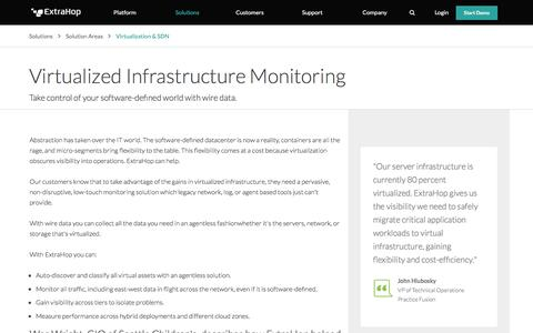 Virtualized Infrastructure Monitoring | ExtraHop