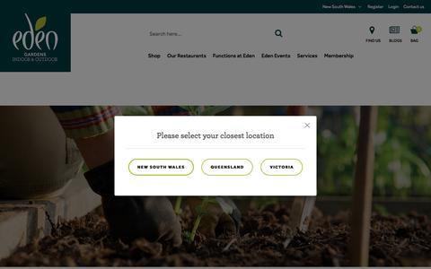 Screenshot of Login Page edengardens.com.au - Customer Login - captured July 16, 2018