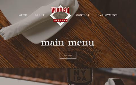 Screenshot of Menu Page thewinfieldgrill.com - Menu  | The Winfield Grill | Rochester, NY - captured Dec. 13, 2018